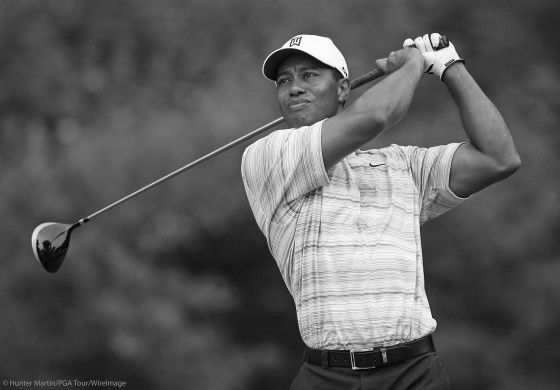Tiger Woods B&W
