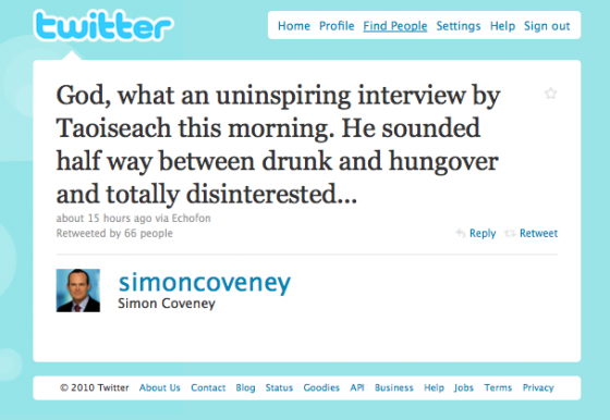 Simon Coveney Tweet